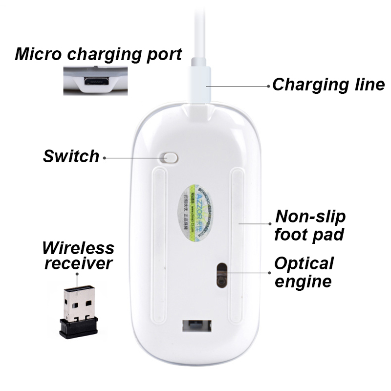 2.4GHz Super Slim Wireless Mouse 4