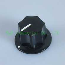 5pcs Black Pedal Effect Bass Jazz Guitar Audio Amp Control Knob 6mm Solid Shaft