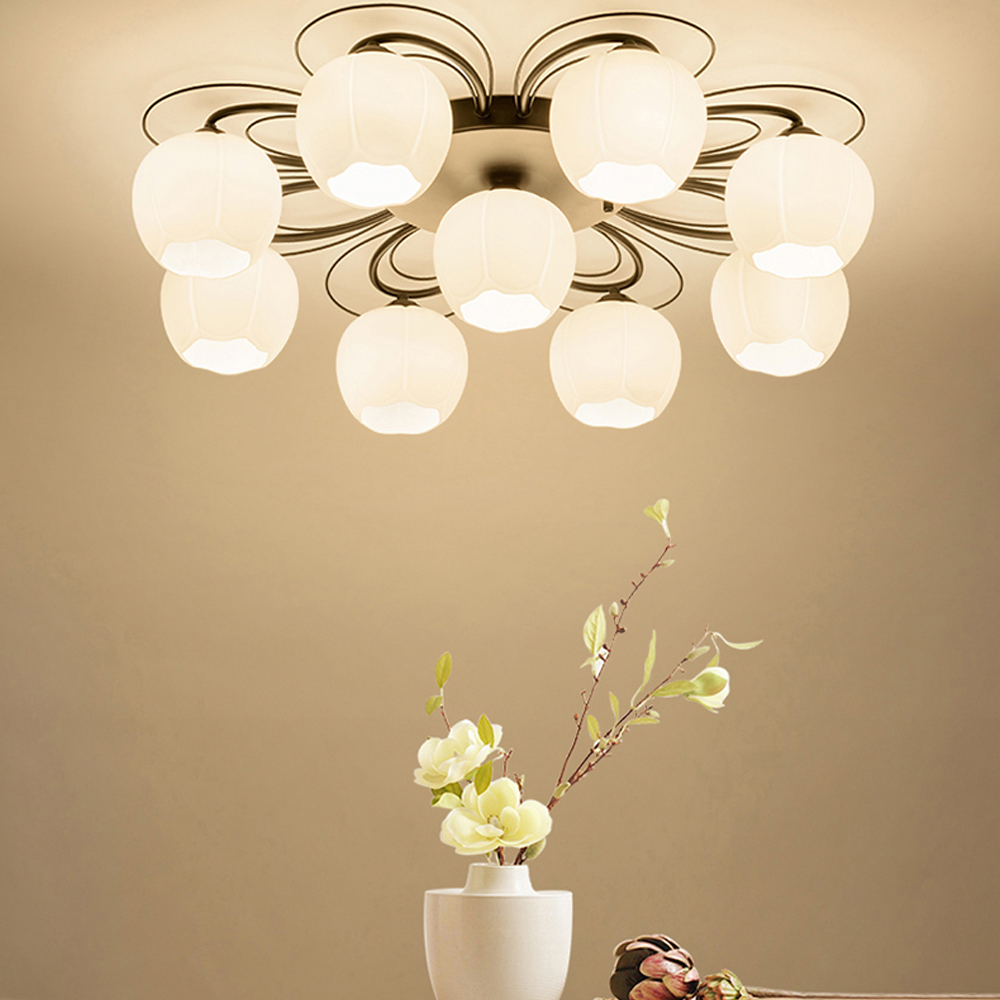 led e27 Nordic Iron Glass LED Lamp.LED Light.Ceiling Lights.LED Ceiling Light.Ceiling Lamp For Foyer Bedroom