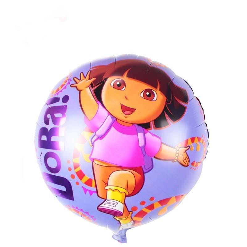 10pcs/lot Dora Explore Foil Balloons Birthday Party Decoration Ballon Children Classic Toys Inflatable Air Balls