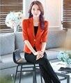 Nueva Moda Profesional de Estilo Uniforme Delgado 2016 de Primavera y Verano Pantalones Y Chaquetas de Las Señoras de Oficina Mujer Trajes de Negocios Pantalones Fijados