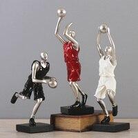 Творческий смолы играть Баскетбол спортивный характер украшения Декор ручной работы статуя современный винный шкаф ремесел для подарки на