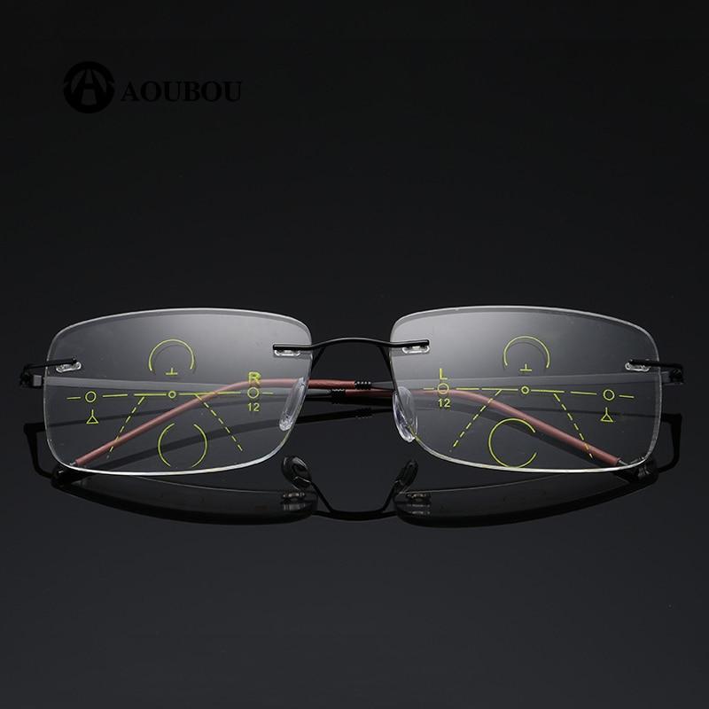 Kacamata Baca Multifokal Otomatis Zoom Tanpa Bingkai Ultralight - Aksesori pakaian - Foto 1