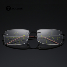 Automatisk zoom multifokale læseregler Frameless Ultralight Smart Eye Protection Se fortiden for at se for langt ud