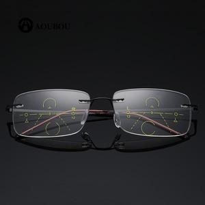 Image 2 - 자동 줌 다 초점 안경 읽기 frameless ultralight smart eye protection 과거를 보면 너무 멀리보세요.