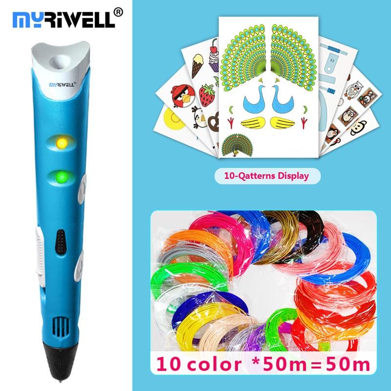 купить myriwell 3d pen 3d pens,1.75mm ABS/PLA Filament,3 d pen3d model,Creative3d pen doodler,Best Gift for Kids