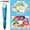 myriwell 3d pen 3d pens,1.75mm ABS/PLA Filament,3 d pen3d model,Creative3d pen doodler,Best Gift for Kids