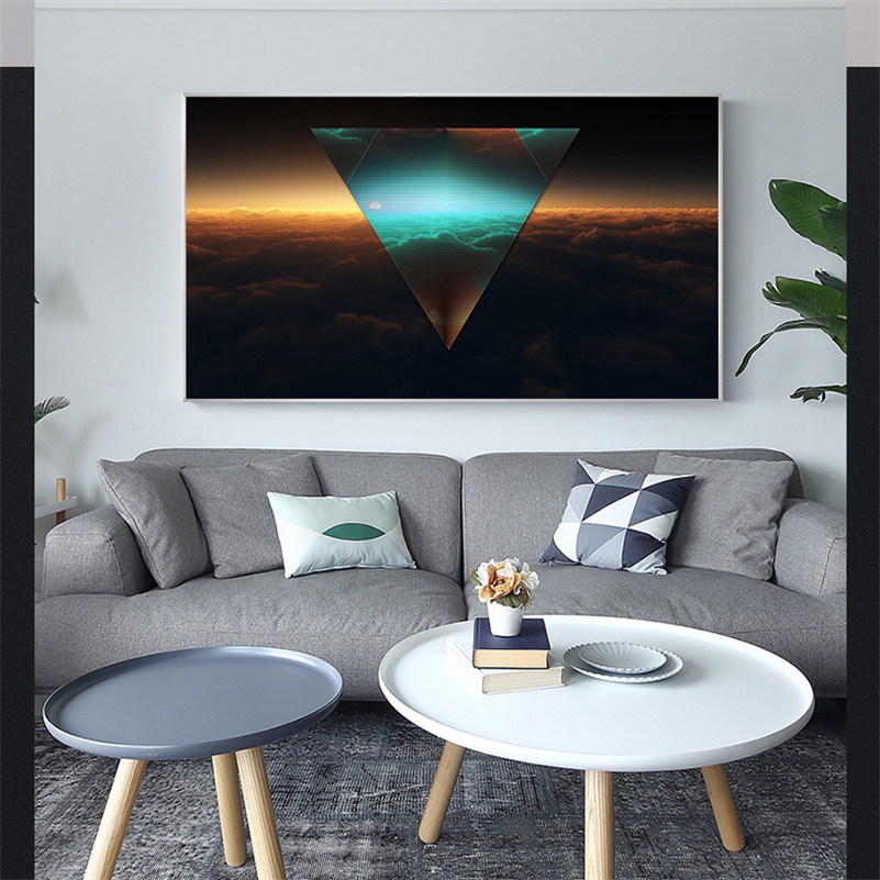 Modern Minimalist City Light Blurred Paintings Wall Pictures for Living Room Wall Art Poster Prints Home Decor Pop Art