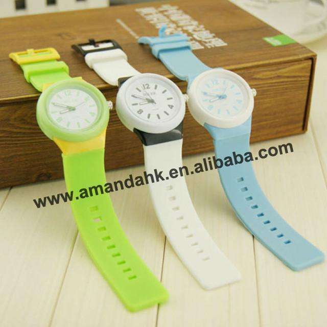 60pcs/lot hottest fashion plastic watch,unisex silicone watch,cheap fashion brand colorful watch .