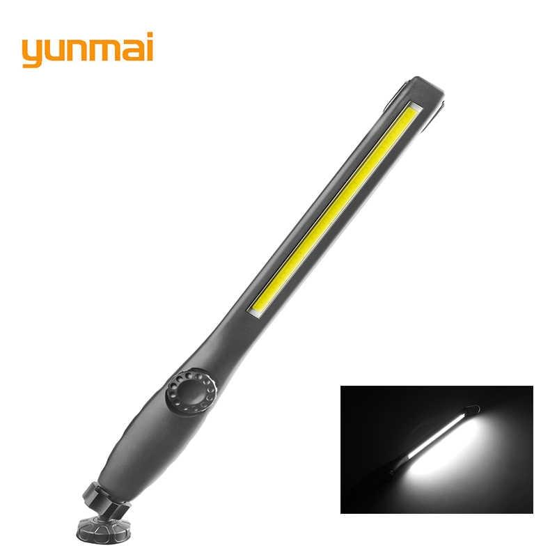 2019 MỚI yunmai USB Sạc Làm Đèn Pin Từ Kiểm Tra Đèn Pin Đèn Lồng Móc Treo Đèn Cho Xe Sửa Chữa Cắm Trại