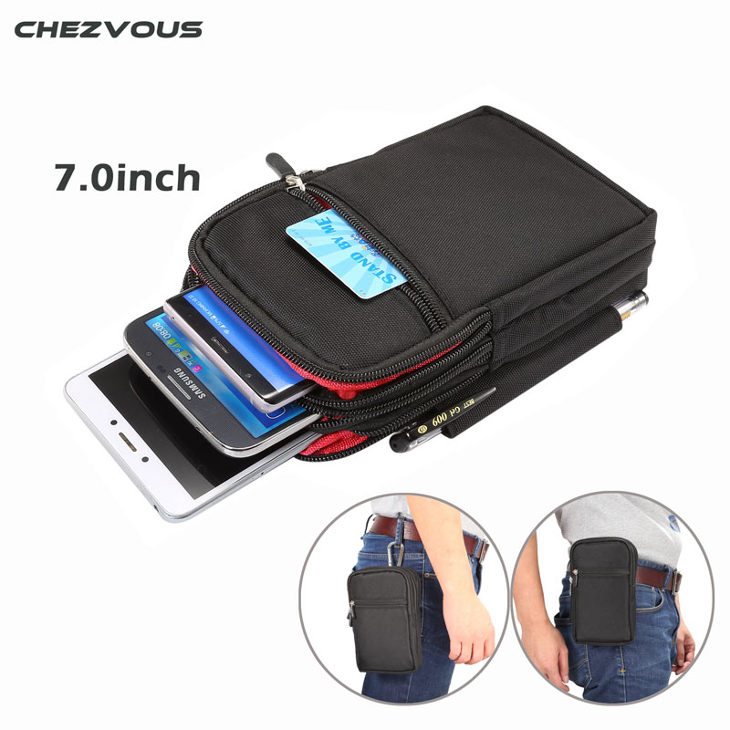 CHEZVOUS 7.0'' Belt Clip Cover Case Sports Wallet Mobile Phone