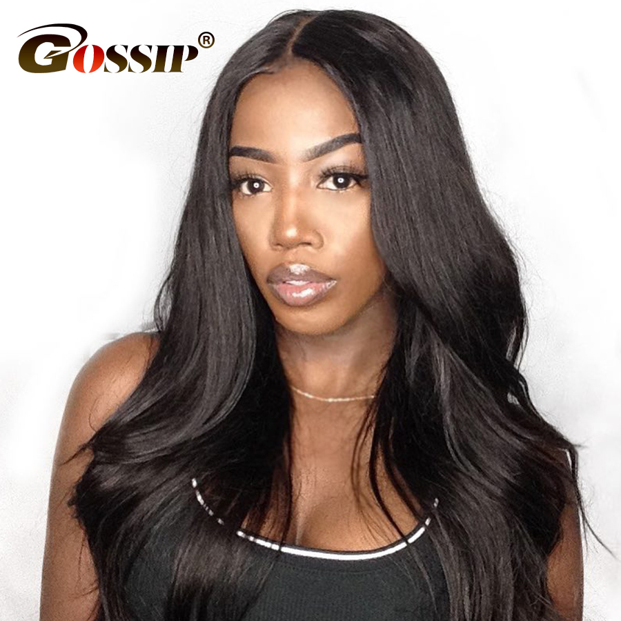 Malaysisk Straight Lace Front Paryk 130/150/180 Tetthet Lace Front Menneskehår Parykker For Black Women Affordable Lace Parykk Remy Hair
