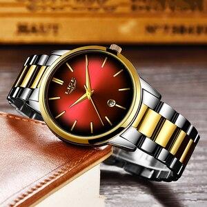 Image 4 - LIGE reloj de cuarzo para mujer, de acero inoxidable, resistente al agua, femenino