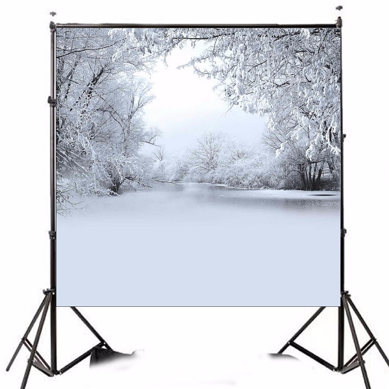 8x8FT Vinyl Photography Background Ice and Snow Winter Woods Theme photo Studio Props Backdrop waterproof 2.4 x 2.4m shengyongbao 300cm 200cm vinyl custom photography backdrops brick wall theme photo studio props photography background brw 12