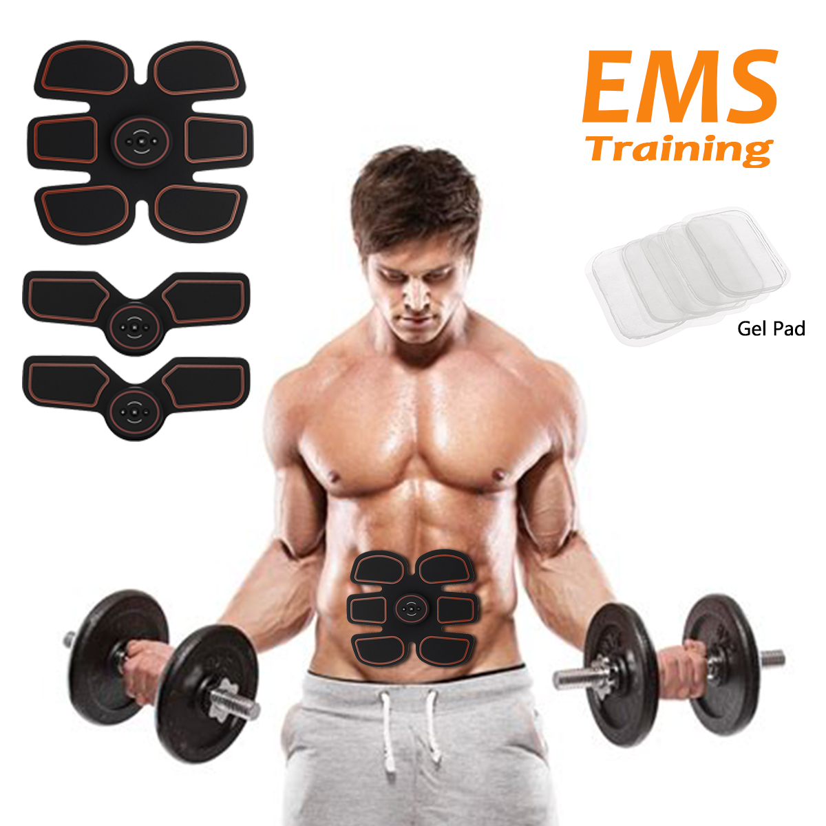 Electric Wireless Fitness ABS Sticker Muscle Abdominal Exerciser Training Arm Leg Body Shape Smart Stimulator Fit EMS Trainer