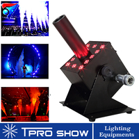 CO2 Cannon RGB LED Colorful Cold Fog Column Stage Effect Machine Multi Angle Cryo Co2 Jet Blaster Dmx Control for DJ Live Show