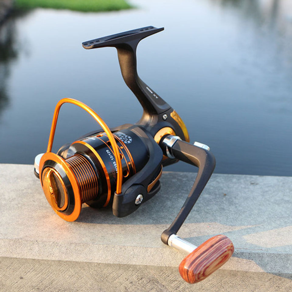 Spinning Fishing Reel 12BB + 1 Bearing Balls 500-9000 Series Metal Coil Spinning Reel Boat Rock Fishing Wheel 4