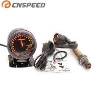 Free Shipping CNSPEED 60mm 12V Auto Car Air Fuel Ratio Gauge & Narrowband O2 Oxygen Sensor REAR LOWER For 03 10 Hyundai Kia 2.0L