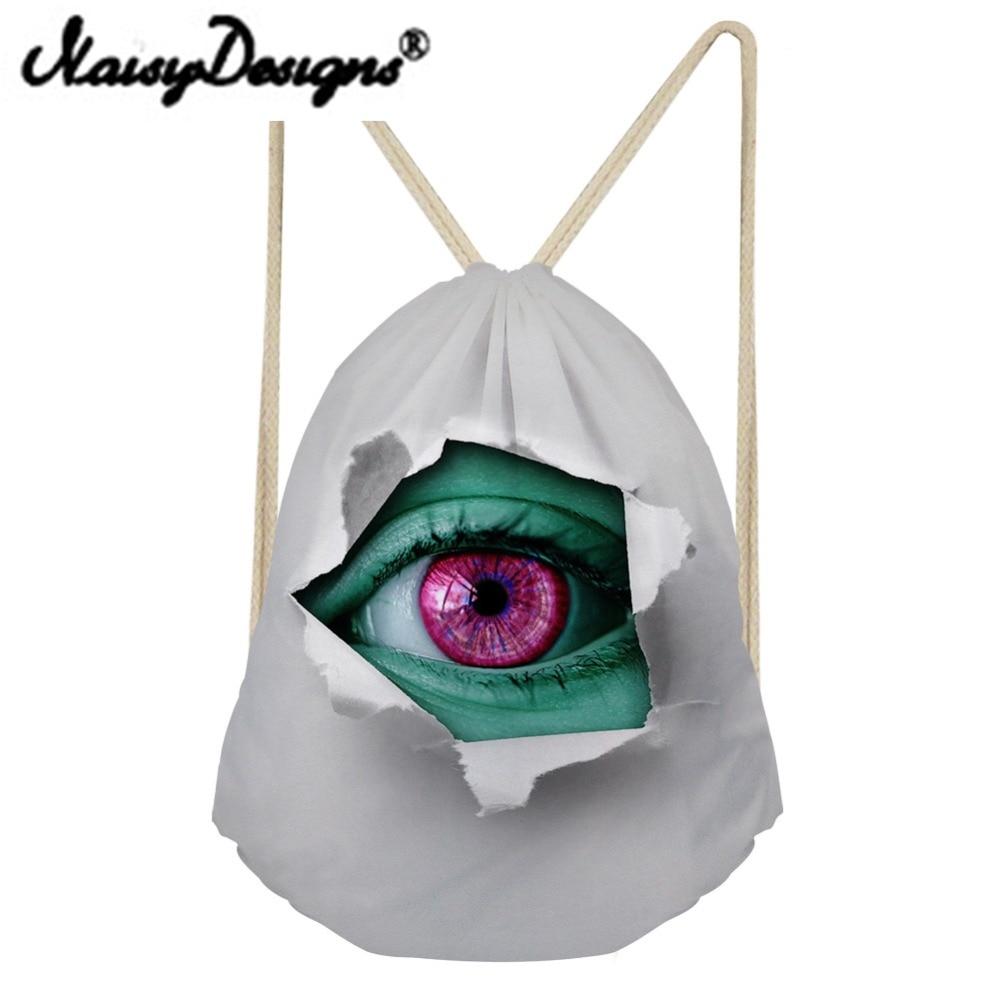 NOISYDESIGNS Bags 3D Printed Women Drawstring Backpack Fashion School Shopper Unicorn Mochila Infantil Travel Gift 2018 New