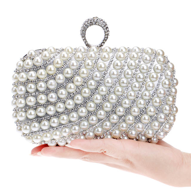 Online Shop New Girl Gold Party purse Woman's Fashion Pearl Evening Bags  Beaded Day Clutches Fashion clutch bags small Pearl rhinestone bag |  Aliexpress ...