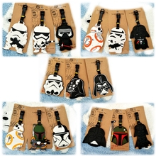 Travel Accessories Suitcase Luggage Tags Star Wars Action Figure ID Address Holder Silicone Identifier Bag Keychain