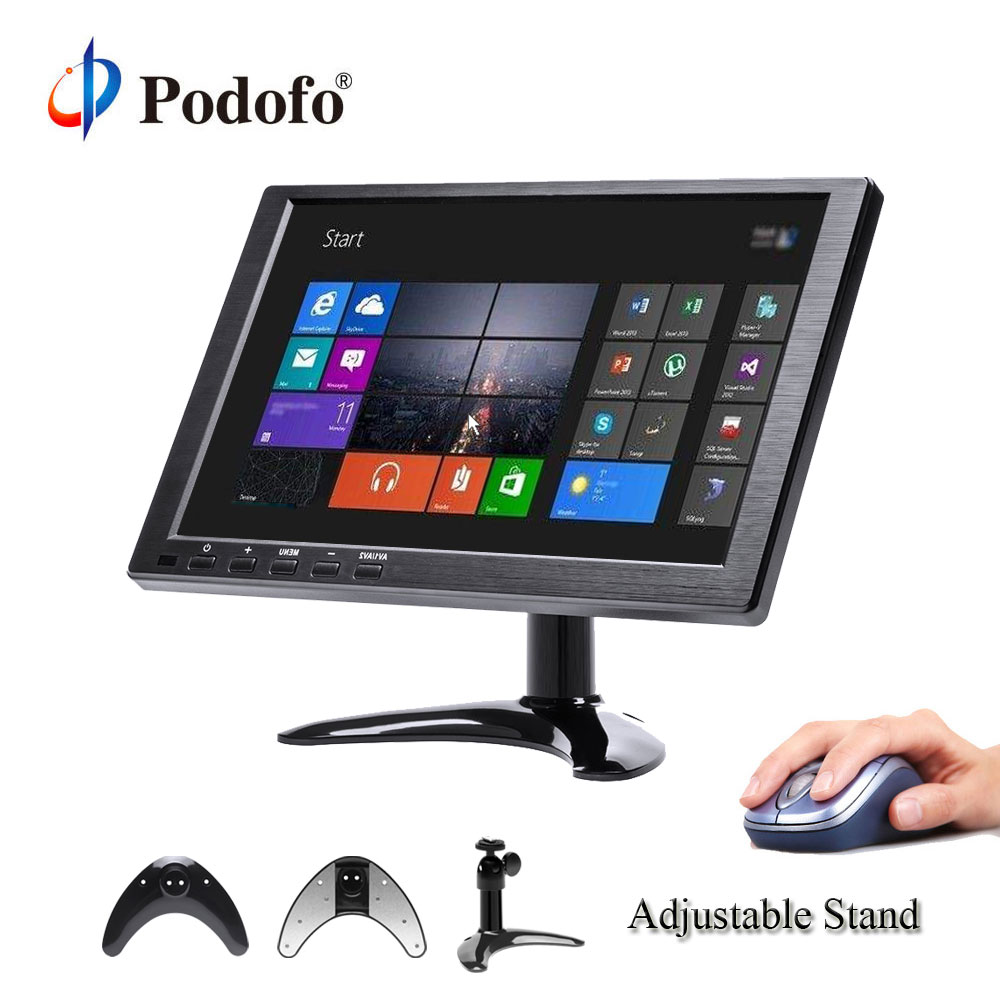 Podofo 10.1FHD Car Headrest Monitor TFT Digital Screen HDMI/VGA/AV/USB/SD Slim UV Coating PC/TV/DVD/MP5 Player For Monitoring aputure digital 7inch lcd field video monitor v screen vs 1 finehd field monitor accepts hdmi av for dslr