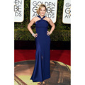 2017 Kate Winslet Celebrity Dresses 73rd Golden Globe Awards Dark Royal Blue Formal Dress with Split Side Red Carpet Gown