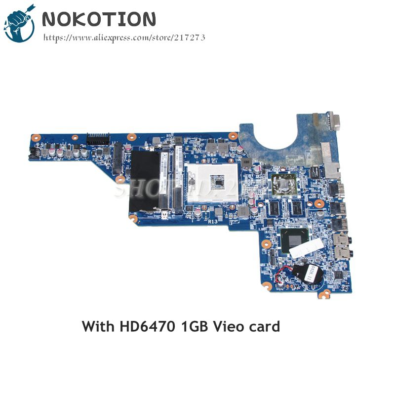 NOKOTION 650199-001 636375-001 MAIN BOARD For HP Pavilion G4 G6 G7 Laptop Motherboard HM65 DDR3 HD6470 1GB Video card 683029 501 683029 001 main board for hp pavilion g4 g6 g7 g4 2000 g6 2000 laptop motherboard socket fs1 ddr3