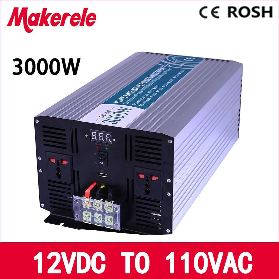 MKP3000-121 12v to 110v inverter 3000w 12v 110v off grid pure sine wave voltage converter solar inverter,LED Display p5000 481 pure sine wave solar inverter off grid 5000w 48v to 110v voltage converter solar inverter led display inversor