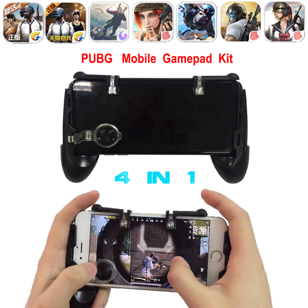 Fortnite PUBG Mobile Joystick Android Phone Gamepad L1 R1 Controller PUGB Mobile Game L1R1 Button Free Fire Trigger for iPhone