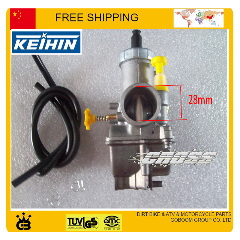 US $39 99  Motorcycle carburetor KEIHIN 27mm pe27 28mm PE28 racing power  performance carburetor hand choke GY6 RSZ JOG 100CC free shipping-in