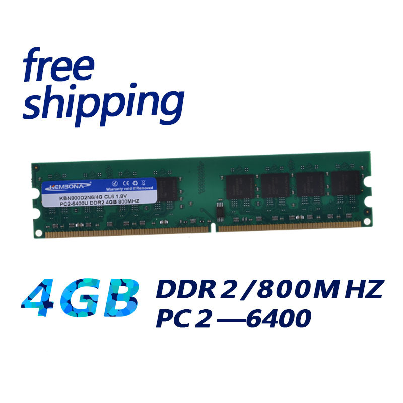 KEMBONA Brand DDR RAM LONGDIMM PC DESKTOP DDR2 4GB 4G 667MHZ 800MHZ for intel and for A-M-D RAMs kembona for intel and for a m d pc desktop ddr2 2gb 4gb 1gb ram memoryddr2 800 667 533 mhz pc ddr2 1g 2g 4g