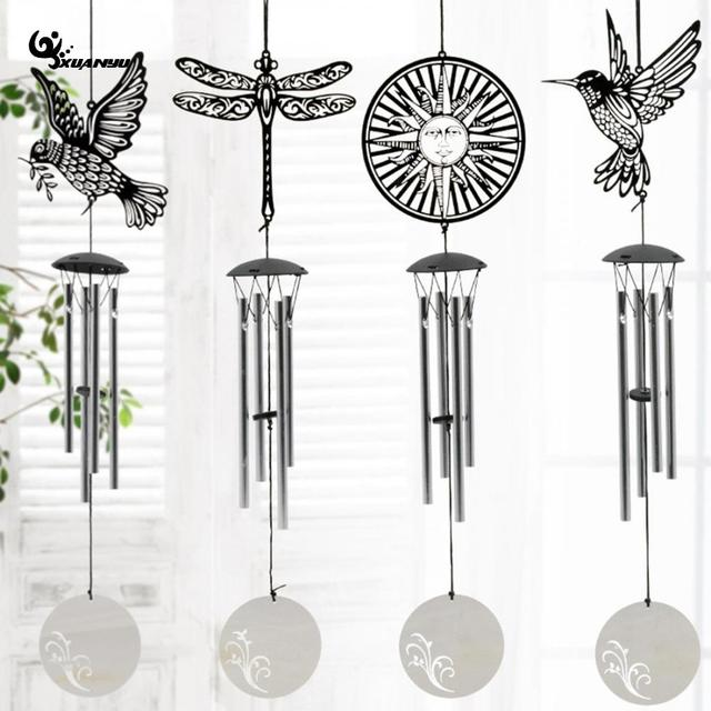 stainless steel windbell wind chimes animal hanging decoration musical instruments dream catcher creative home decor f
