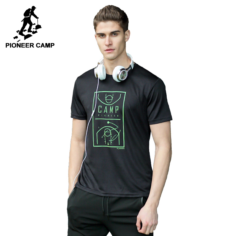 Pioneer camp new quick dry t shirt men brand clothing for Quick print t shirts