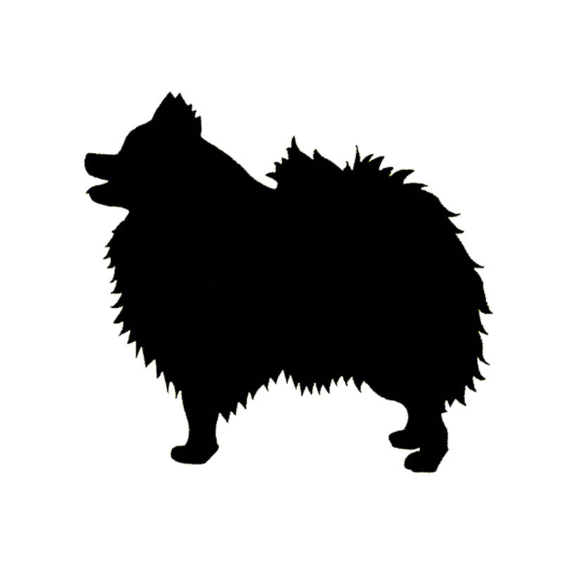 Keeshond And Cats 14*13CM Pomeranian Dog...