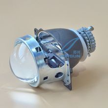 Car Lamp Kit H4 Projector Lens 3 inches for Q5 Koito Bixenon and Cnlight 35W HID Xenon Headlight Bulb D2H