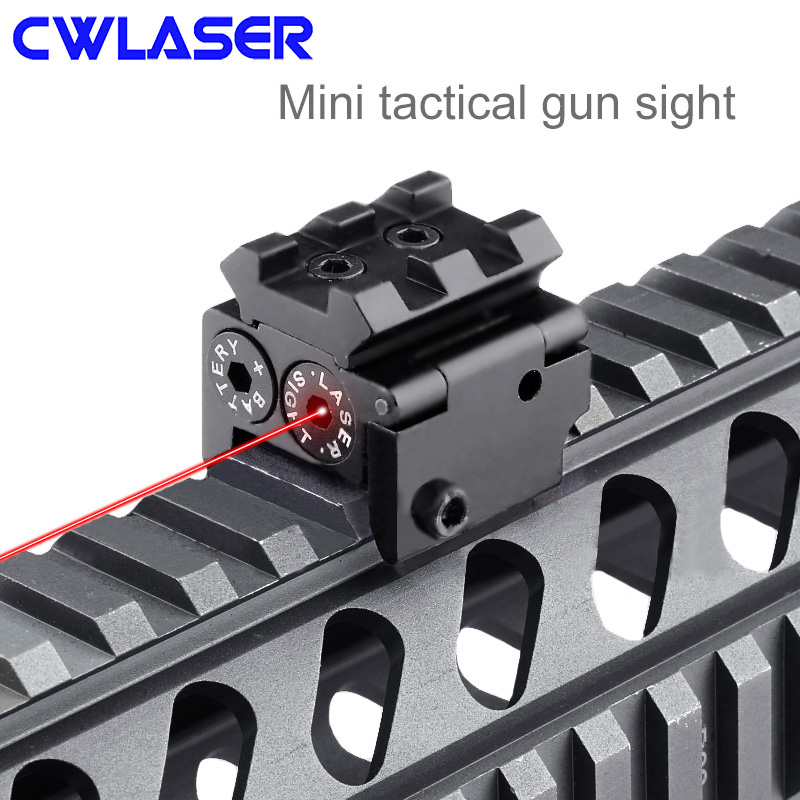 CWLASER 5mW Red Laser Gun Sight Mini Tactical Laser Gun Sight Hunting and Shooting Supplies (Black)