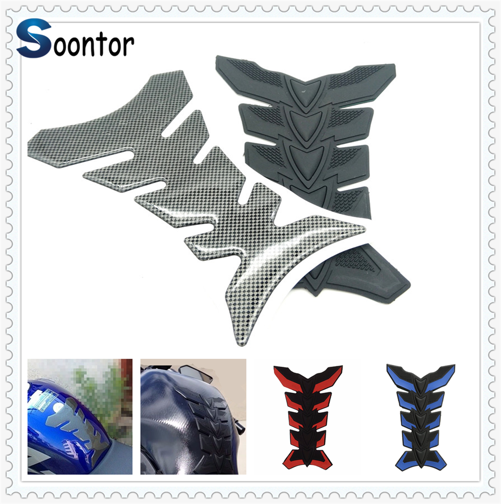 Motorcycle Accessories & Parts Possbay Carbon Fiber Motorcycle Oil Fuel Tank Decal Stickers Universal For Kawasaki Ninja 300 Ex300 Motocross Fuel Tank Sticker Year-End Bargain Sale