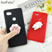 Squishy 3D Toys Phone Cat Case For Google Pixel 5 XL 4A 3A XL 4 2 XL Pixel2 3 3XL Love Heart Candy Cover Funny Cat Soft Case(China)