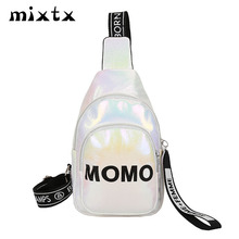 mixtx Hot Sale Laser Chest Pack Women Men Unisex Waist Bag Fashion Fanny Female New Letter Shoulder Belt Hands Free