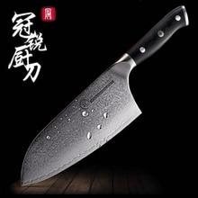Шеф-повар ножи японский Дамасская сталь растительного Тесак китайского мяса кухонный нож рубящий нож профессиональный Кухонная утварь