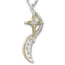 2019 Creative Footprints Frosted Cross Necklace for Women Fashion AAA Cubic Zirconia Two-tone Plated Statement Jewelry