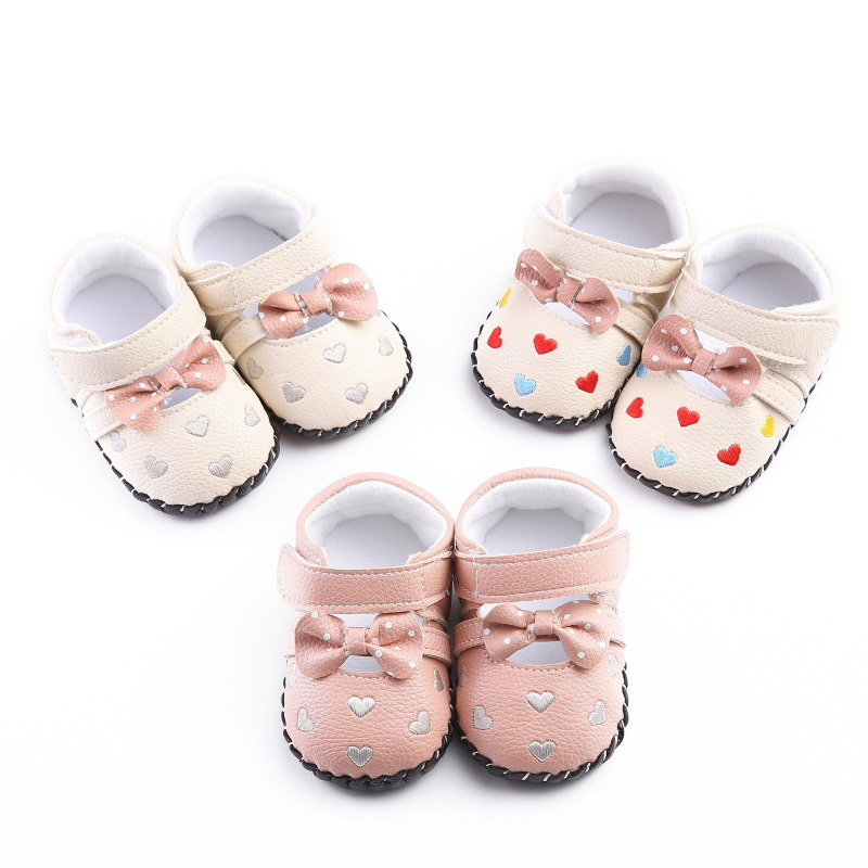 newborn baby girls spring autumn PU leather leisure rubber non-slip baby school shoes Non-slip First Walkers for kids girls
