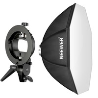 Neewer 32x32 inches/ 80x80 centimeters Octagonal Speedlite Softbox with S Type Bracket Holder, Bowens Mount