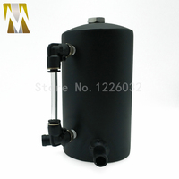 Black Polished Aluminum 0.5L 13mm 1/2 Oil Catch Can Oil Tank Breather Tank Reservoir Universal Silver Red