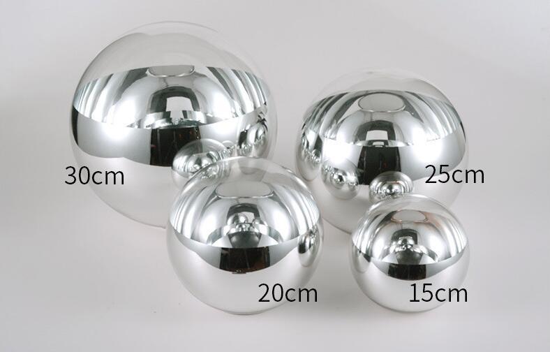 Image 4 - LukLoy Modern Mirror Glass Ball Pendant Light Copper Silver Gold Globe Loft Hanglamp Modern Lamp Kitchen Light Fixture-in Pendant Lights from Lights & Lighting