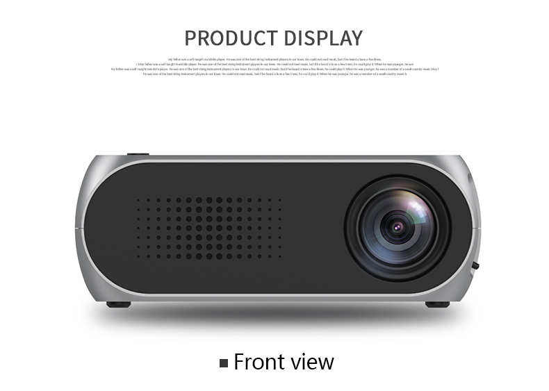 Excelvan YG320 Mini Projector Led Proyector Projetor 500LM Audio HDMI USB Mini YG-320 Projetor Home Theater Media Player Beamer (14)