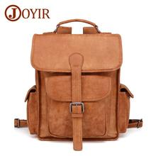 JOYIR Mens Backpack Simple High Quality Genuine Leather Male Fashion Men Youth Leisure Cowhide Travel Shoulder Bags