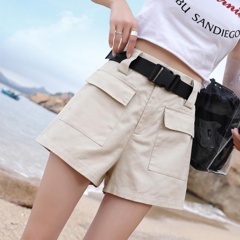 Rainbow  Shorts High Waist Cotton Women Clothes 2019 Spring Summer Sport Fem Me Sexy Plus Size Holiday Quick Drying Casual