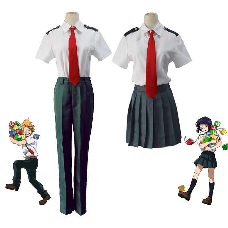 My Hero Academia Summer Men Women School Uniform Cosplay Costume Boku no Hero Academia Bakugou Katsuki Asui Tsuyu Uniforms
